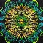 Untitled (Velvet Blacklight Zodiac Lovers No. 2)