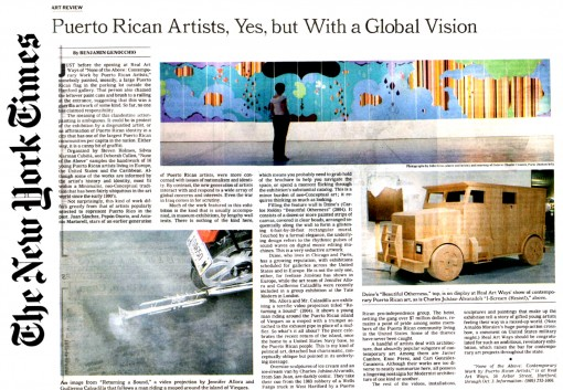 Puerto Rican Artists, Yes, But With A Global Vision
