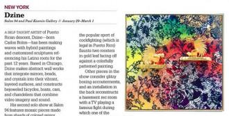 Dzine: Salon 94 and Paul Kasmin Gallery