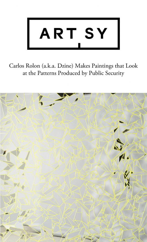 Carlos Rolón (Dzine) Makes Paintings that Look at the Patterns Produced by Public Security