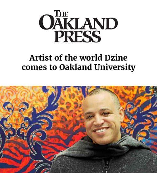 Artist of the world Dzine comes to Oakland University
